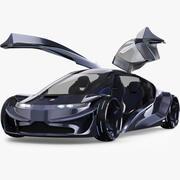 Toekomstige auto 3d model