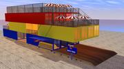 Box Container Restaurant 3D 3d model