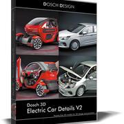 Dosch 3D. Détails de la voiture électrique 3d model
