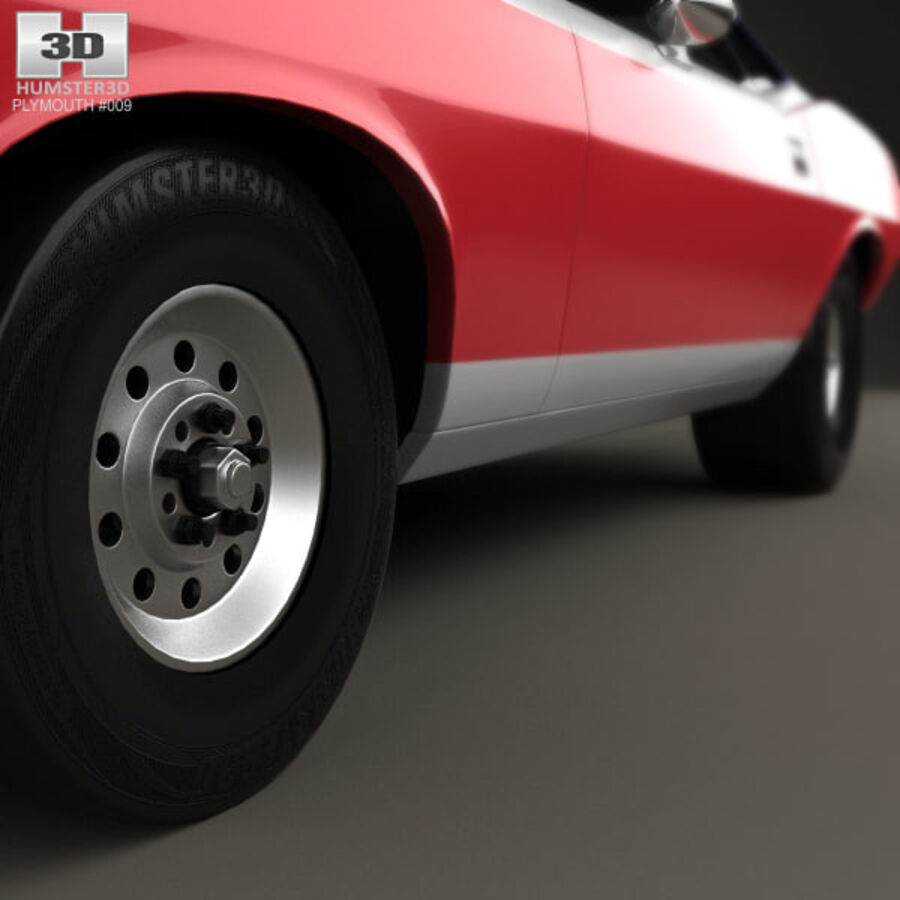 Plymouth Barracuda Dragster 1974 royalty-free 3d model - Preview no. 8
