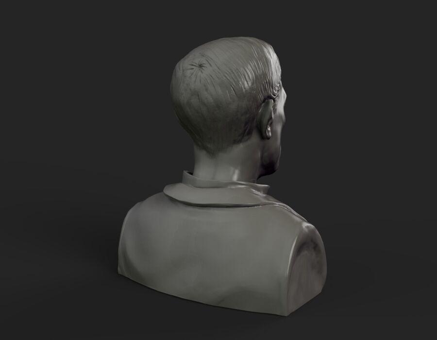 Бюст Бастера Китона royalty-free 3d model - Preview no. 6