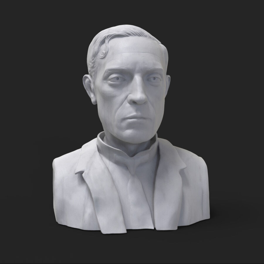 Buster Keaton busto royalty-free 3d model - Preview no. 1