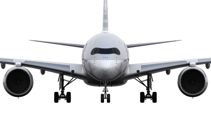 A350-900-卡塔尔 royalty-free 3d model - Preview no. 18