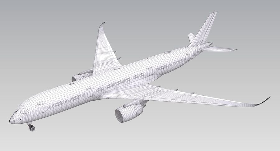 A350-900-卡塔尔 royalty-free 3d model - Preview no. 20
