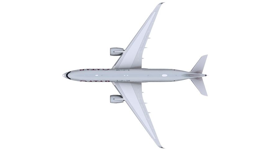 A350-900-卡塔尔 royalty-free 3d model - Preview no. 15