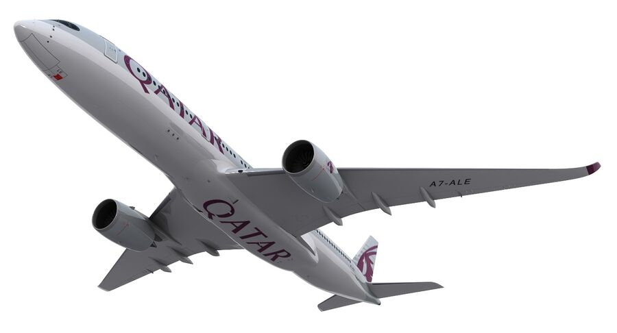 A350-900-卡塔尔 royalty-free 3d model - Preview no. 16