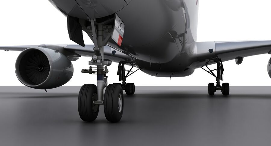 A350-900-卡塔尔 royalty-free 3d model - Preview no. 8