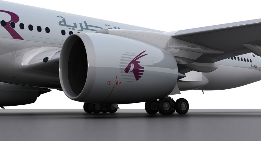 A350-900-卡塔尔 royalty-free 3d model - Preview no. 9