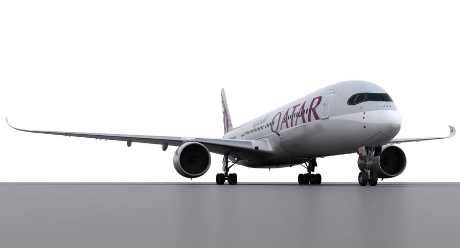 A350-900-卡塔尔 royalty-free 3d model - Preview no. 11