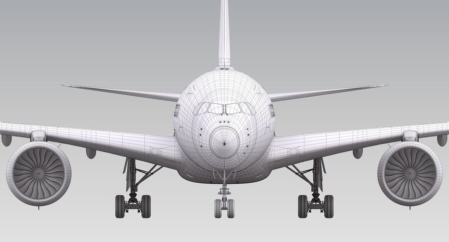 A350-900-卡塔尔 royalty-free 3d model - Preview no. 19