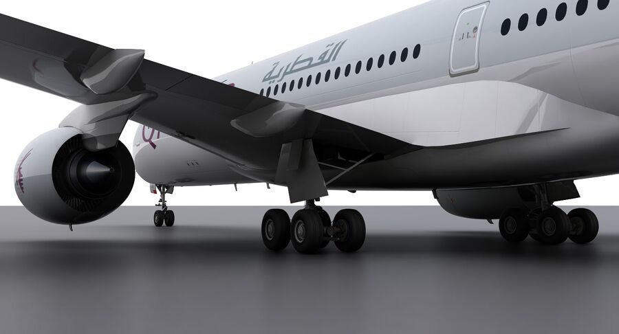 A350-900-卡塔尔 royalty-free 3d model - Preview no. 7
