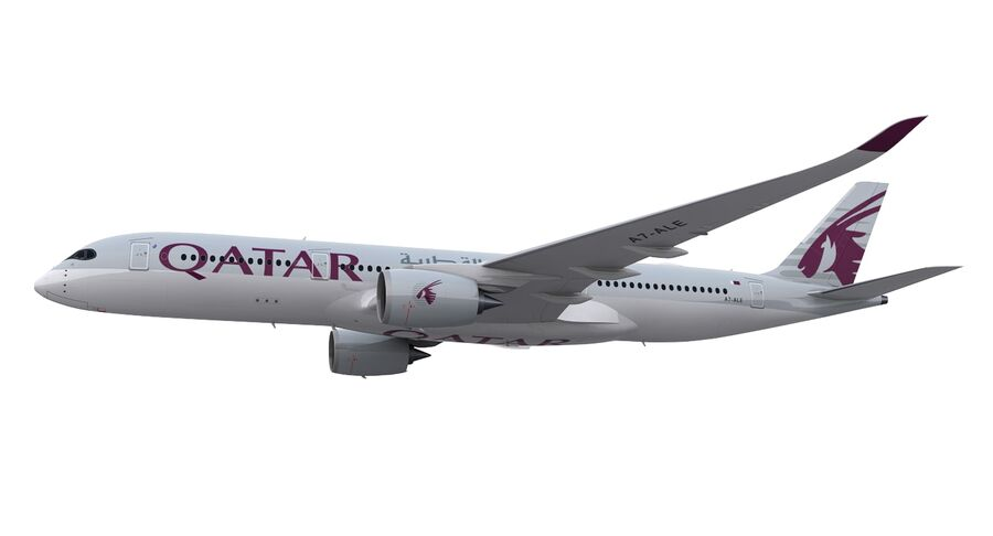 A350-900-卡塔尔 royalty-free 3d model - Preview no. 17