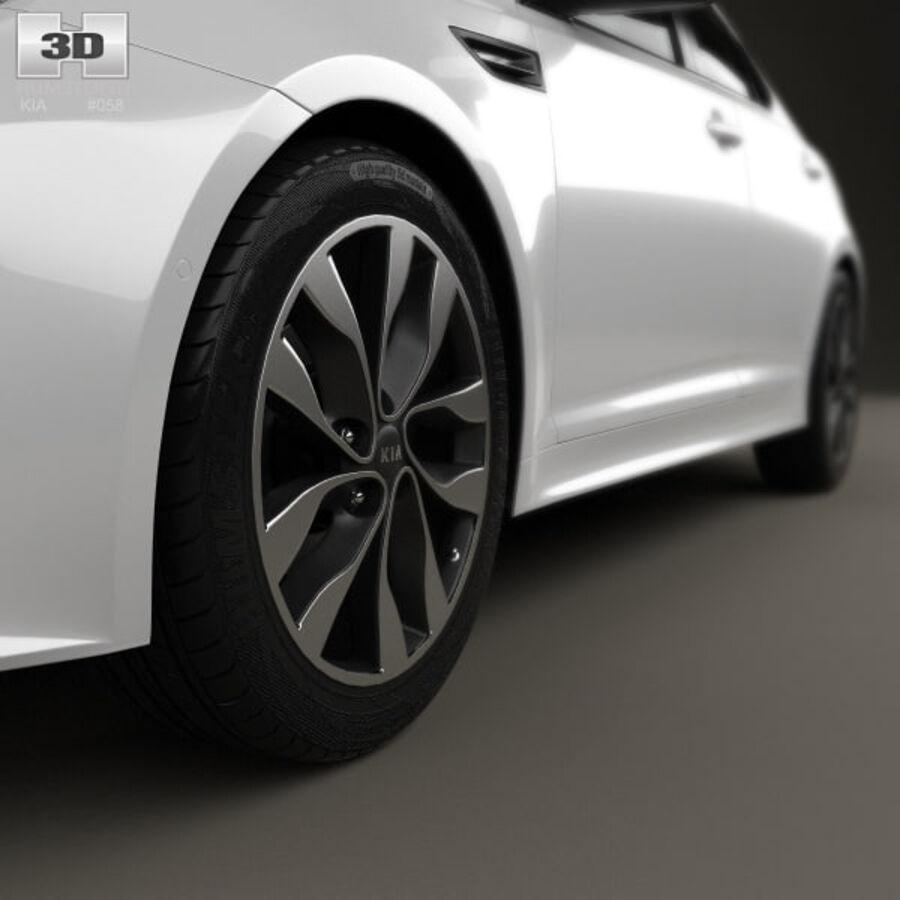 Kia Optima 2015 royalty-free 3d model - Preview no. 8