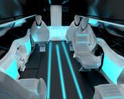 항공기 승객 구역의 비즈니스 클래스 내부 3d model