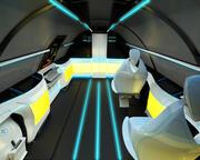 Naddźwiękowa klasa biznesowa do wnętrza samolotu 3d model