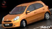 Nissan Micra 2012 modelo 3d