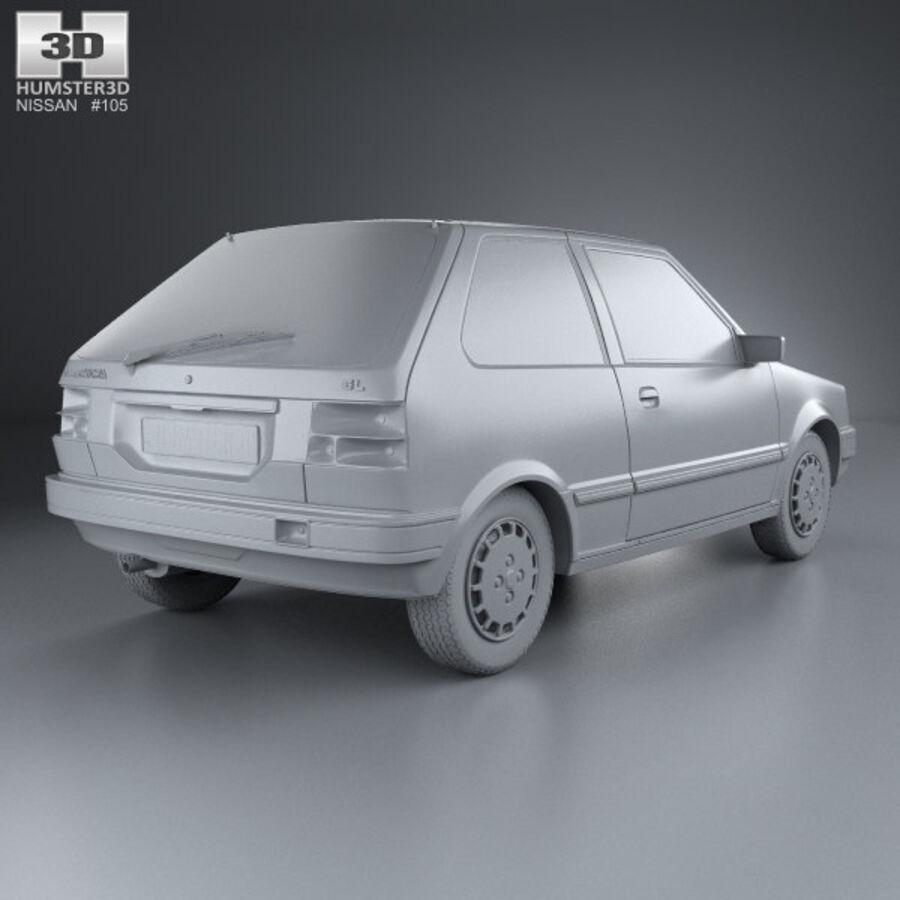 日产Micra 3-door 1982 royalty-free 3d model - Preview no. 12