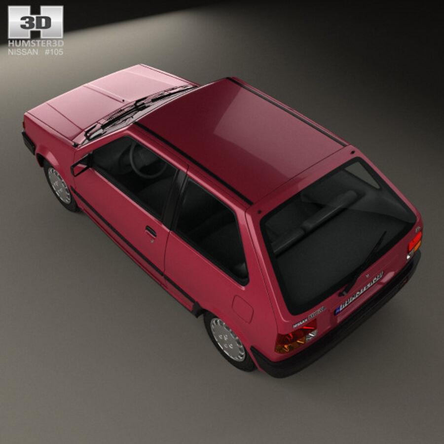 日产Micra 3-door 1982 royalty-free 3d model - Preview no. 9