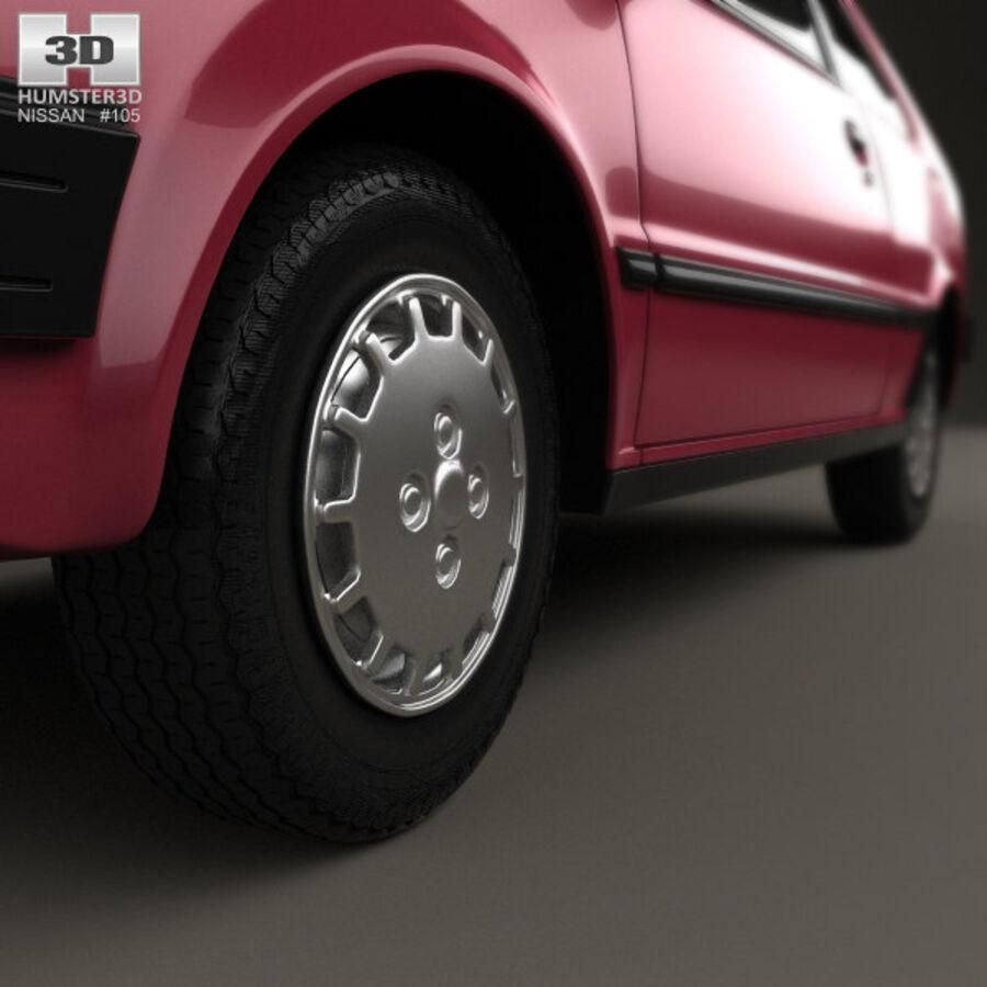 日产Micra 3-door 1982 royalty-free 3d model - Preview no. 8