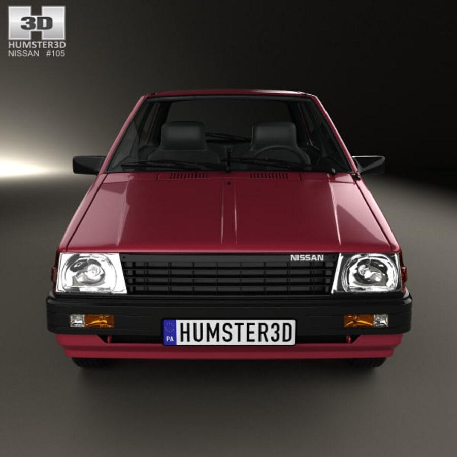 日产Micra 3-door 1982 royalty-free 3d model - Preview no. 10