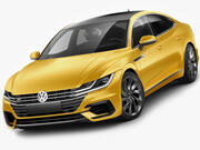 VW Arteon R-line 2018 3d model