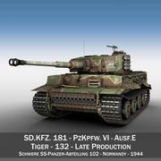 Panzer VI - Tiger - 132 - Позднее производство 3d model