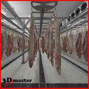 Slaughterhouse Hanging Pork 3d model