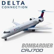 Bombardier CRJ700 Delta Connection 3d model
