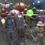 SciFi Robot Collection 3d model