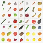 Frutas e vegetais 3d model