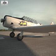 北美T-6德州 3d model