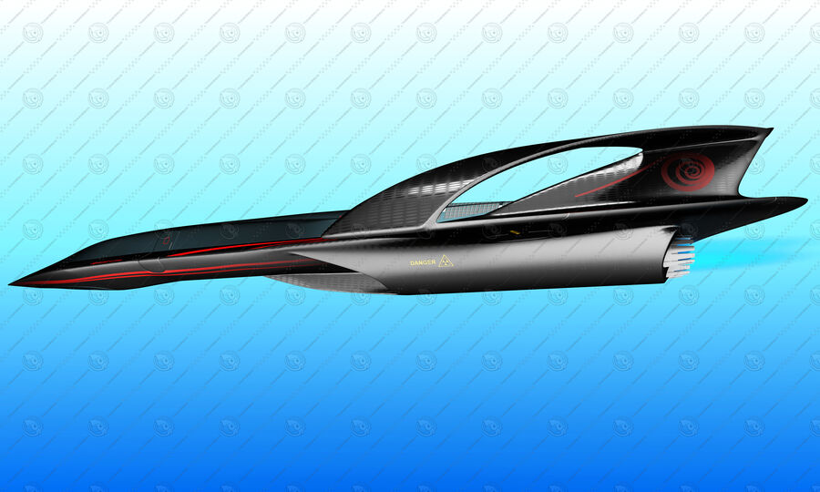 Supersonic Business Class Aircraft royalty-free 3d model - Preview no. 10