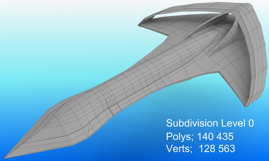 Supersonic Business Class Aircraft royalty-free 3d model - Preview no. 25