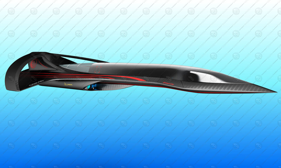 Supersonic Business Class Aircraft royalty-free 3d model - Preview no. 6