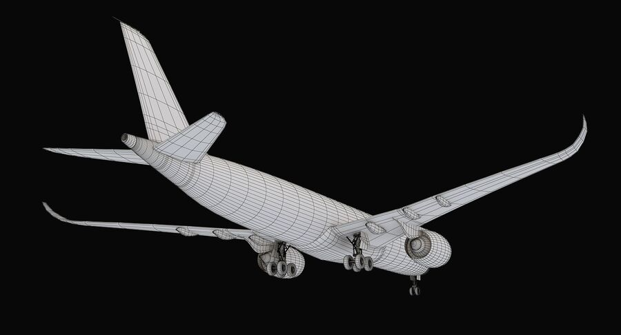Airbus A350-900 Quatar Airlines royalty-free 3d model - Preview no. 15