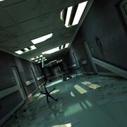 Damaged Hallway 3d model
