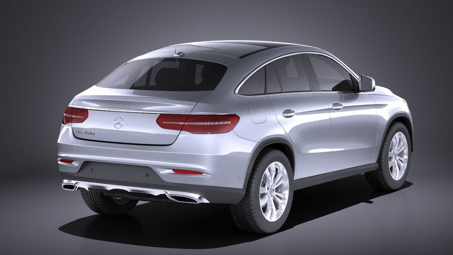 Mercedes-Benz GLE Coupe 2017 VRAY royalty-free 3d model - Preview no. 6