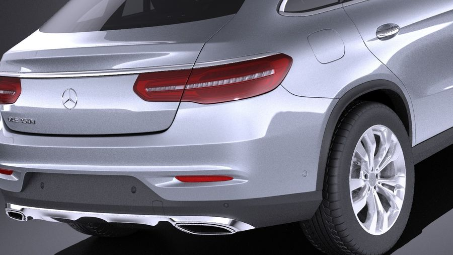 Mercedes-Benz GLE Coupe 2017 VRAY royalty-free 3d model - Preview no. 4