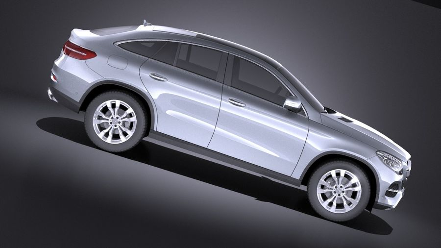 Mercedes-Benz GLE Coupe 2017 VRAY royalty-free 3d model - Preview no. 7