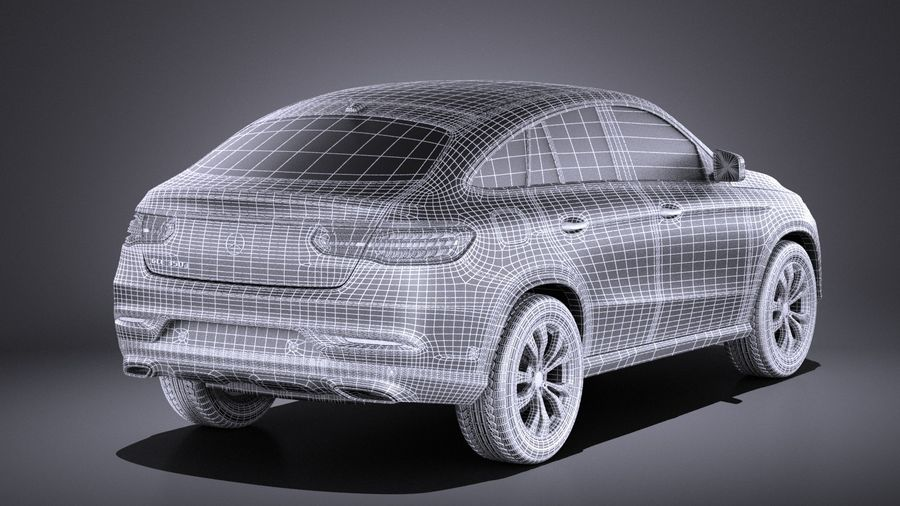 Mercedes-Benz GLE Coupe 2017 VRAY royalty-free 3d model - Preview no. 16