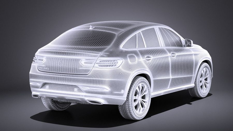 Mercedes-Benz GLE Coupe 2017 VRAY royalty-free 3d model - Preview no. 14