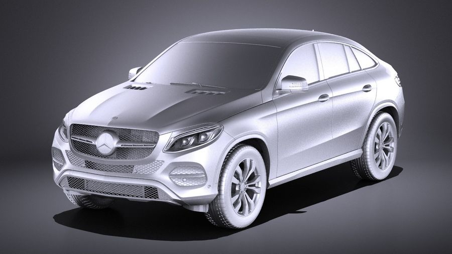 Mercedes-Benz GLE Coupe 2017 VRAY royalty-free 3d model - Preview no. 9