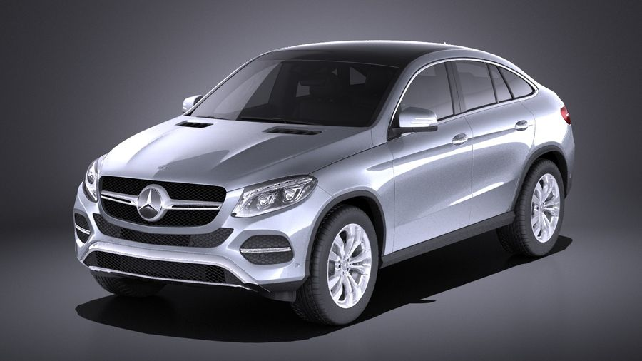 Mercedes-Benz GLE Coupe 2017 VRAY royalty-free 3d model - Preview no. 1