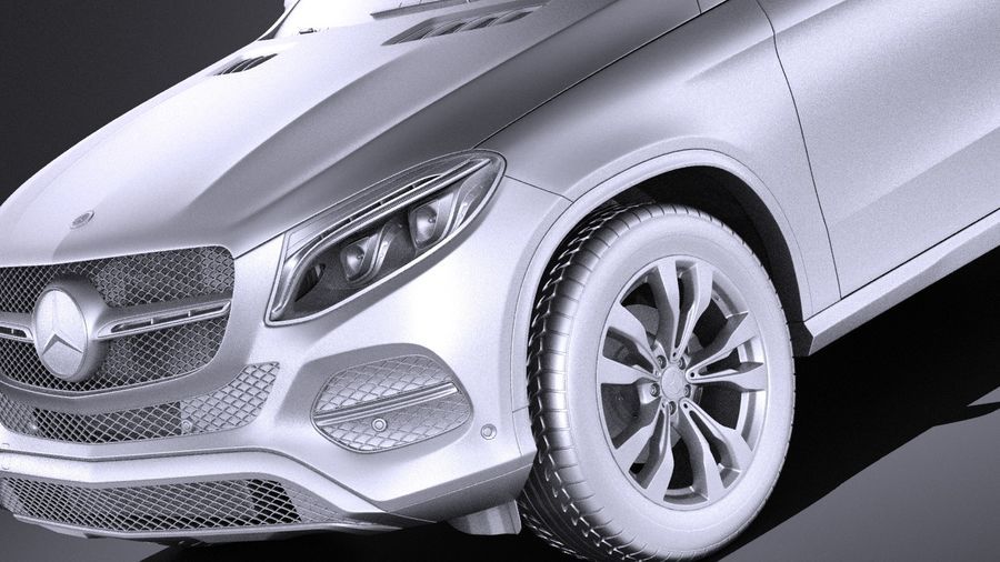 Mercedes-Benz GLE Coupe 2017 VRAY royalty-free 3d model - Preview no. 10