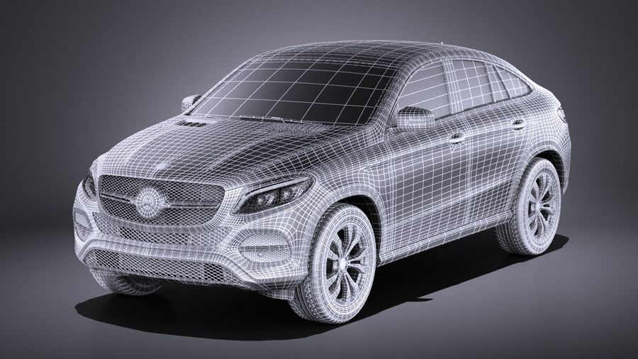 Mercedes-Benz GLE Coupe 2017 VRAY royalty-free 3d model - Preview no. 15