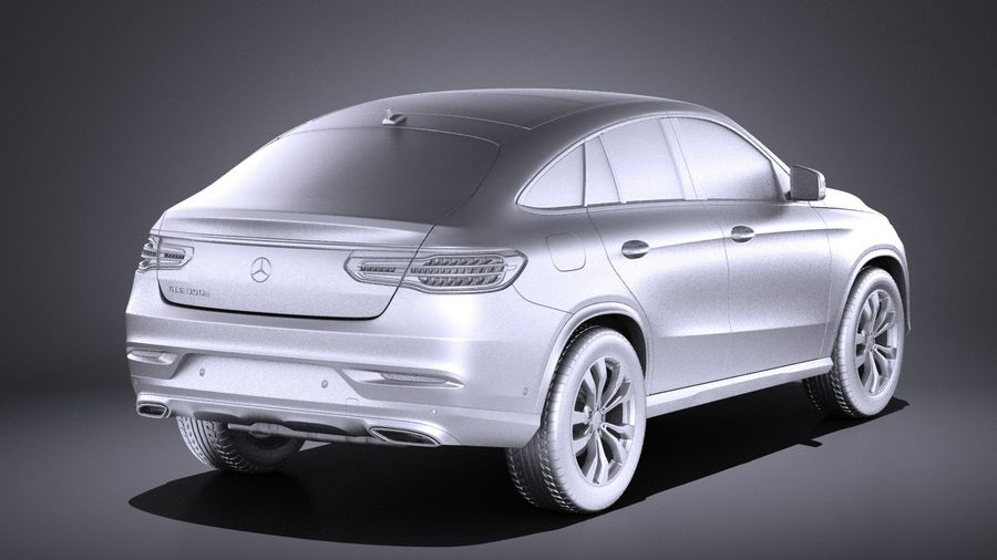 Mercedes-Benz GLE Coupe 2017 VRAY royalty-free 3d model - Preview no. 12