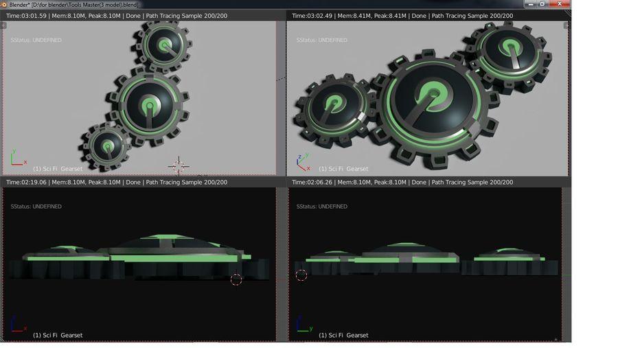 Koła zębate royalty-free 3d model - Preview no. 4