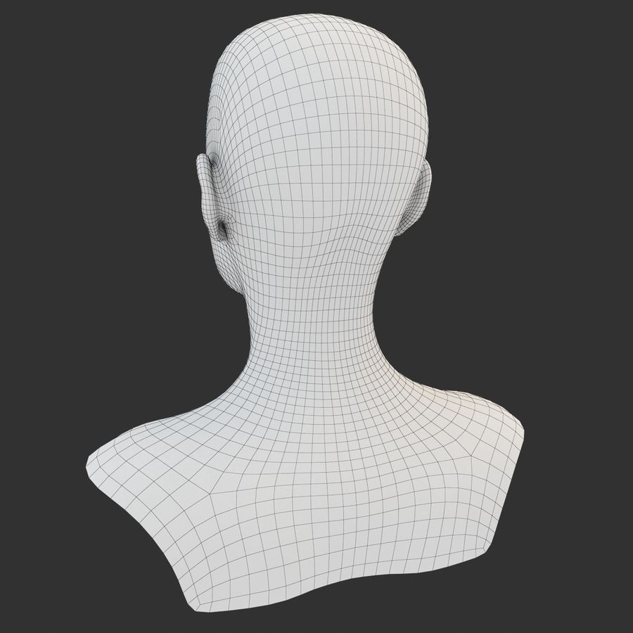3D-Modell mit weiblicher Kopfunterseite royalty-free 3d model - Preview no. 1