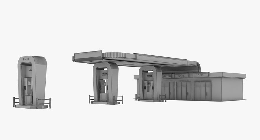 Gas Station royalty-free 3d model - Preview no. 19