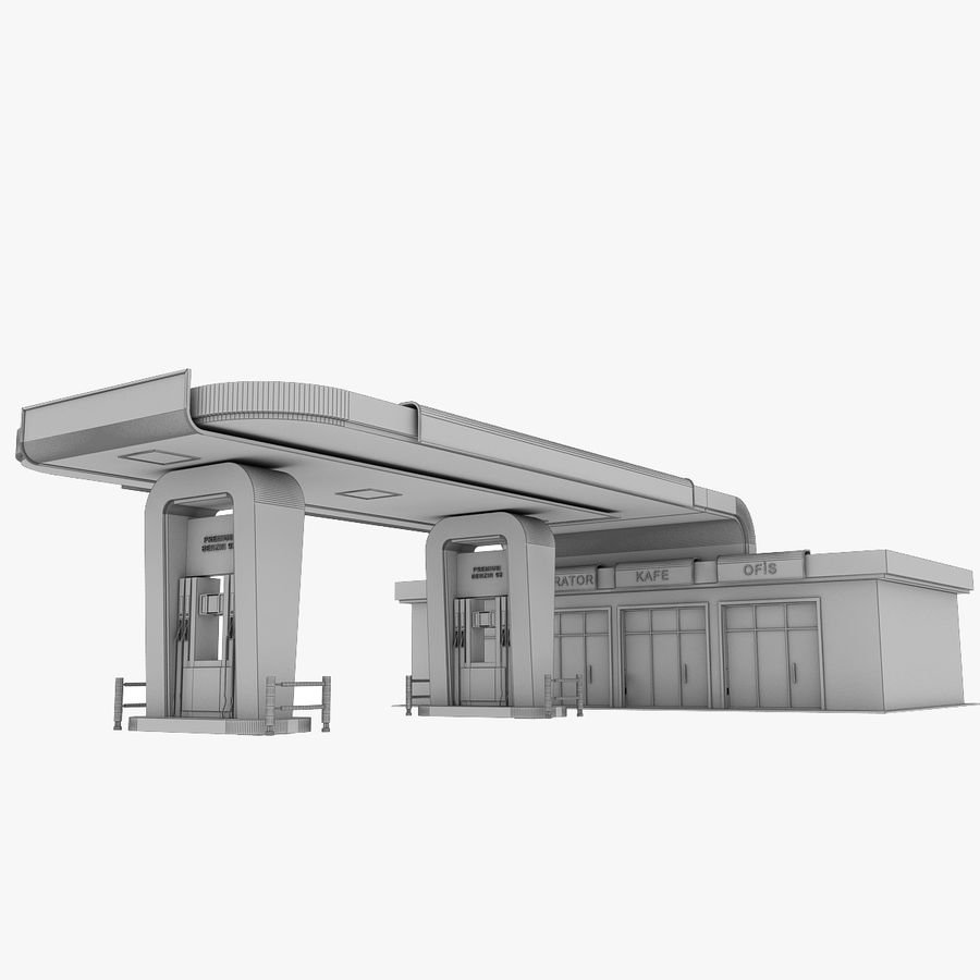 Gas Station royalty-free 3d model - Preview no. 18
